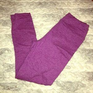 LuLaRoe s/m purple heathered leggings
